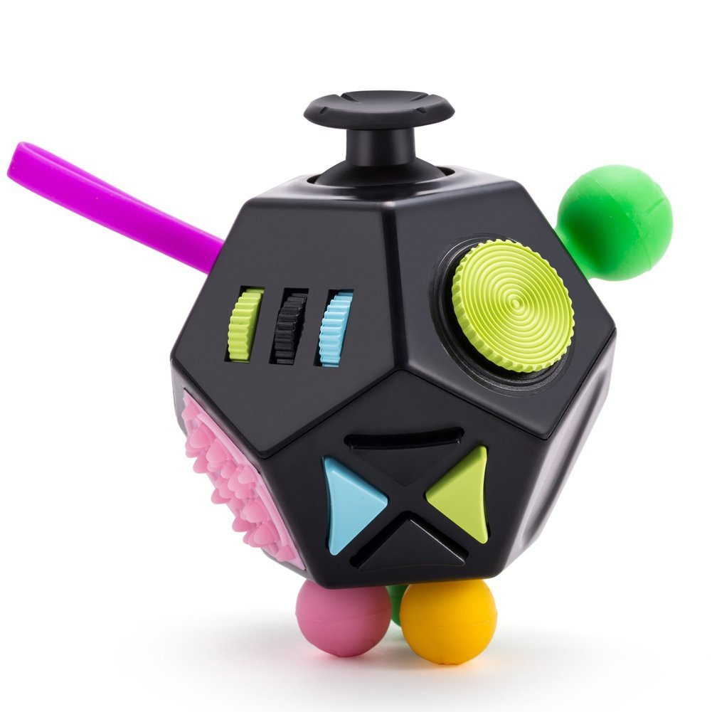 Reviews Fidget Dodecagon Toys Relieves Stress Adhd Autism For Kids And Adults Black
