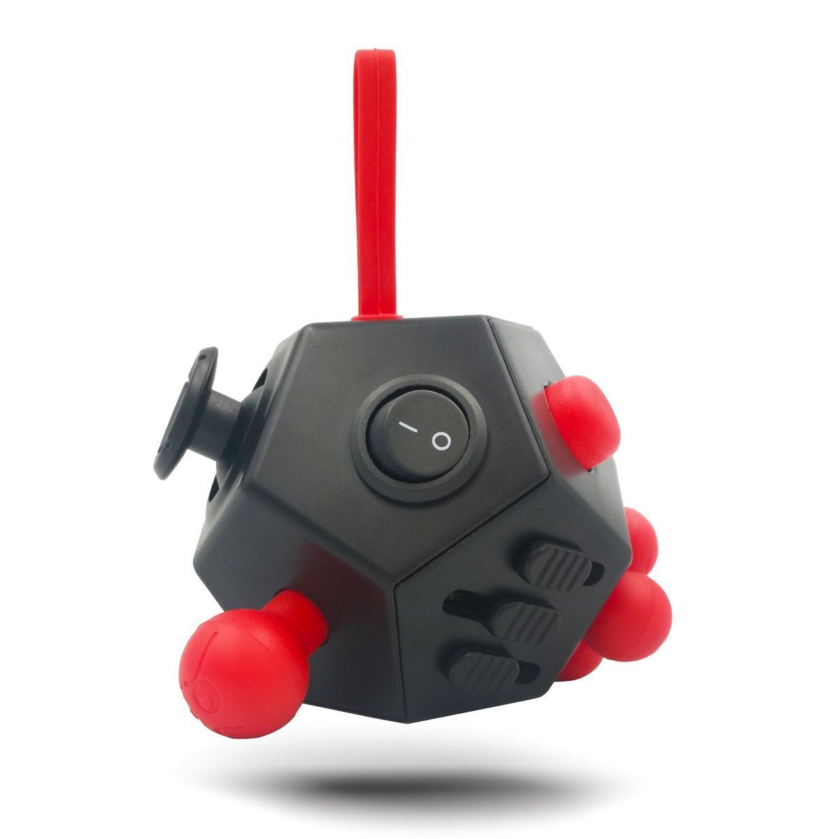 12 Sides Fidget Cube Toys Black / Red A4