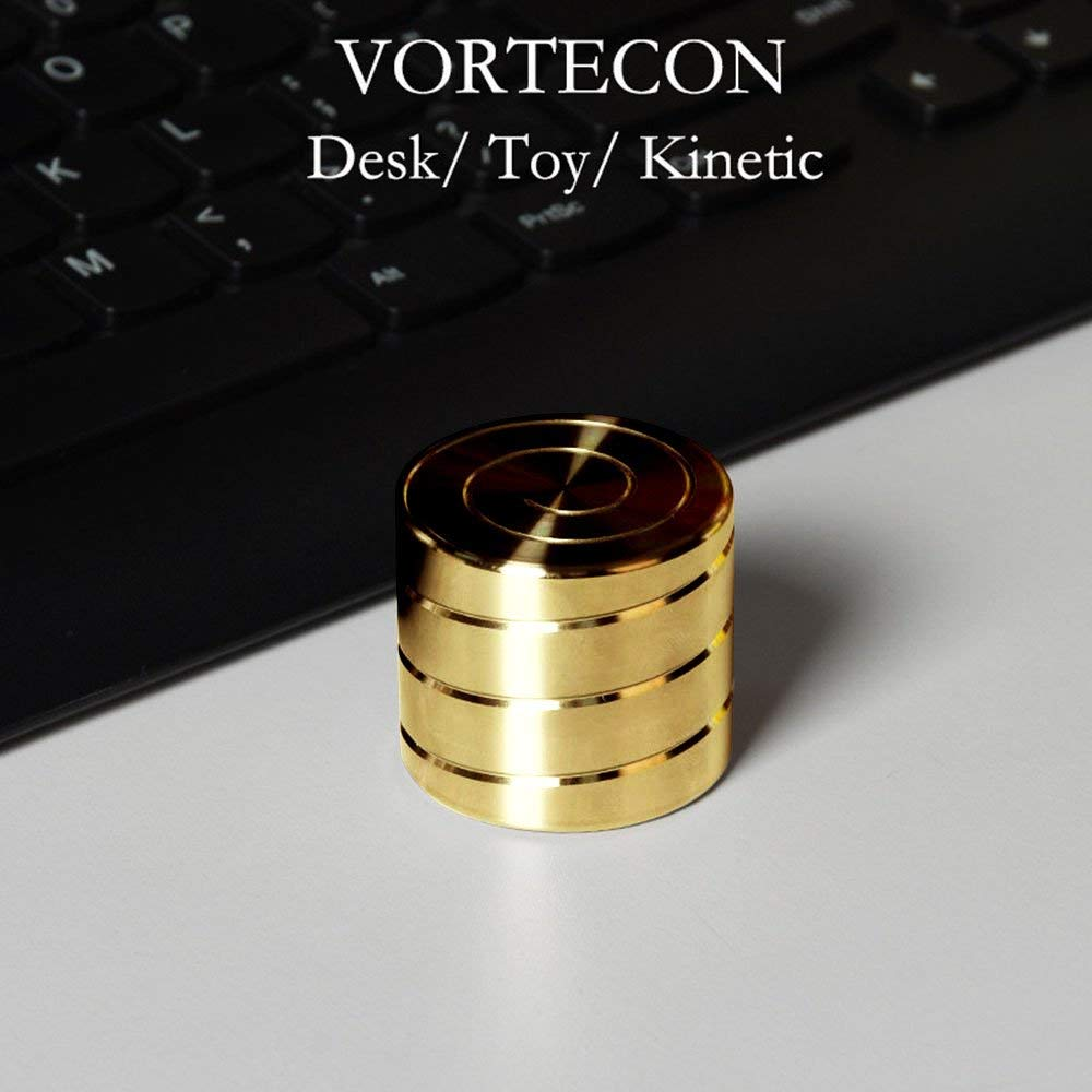 Vortecon Kinetic Spinning Desk Toys for Adults (Golden)