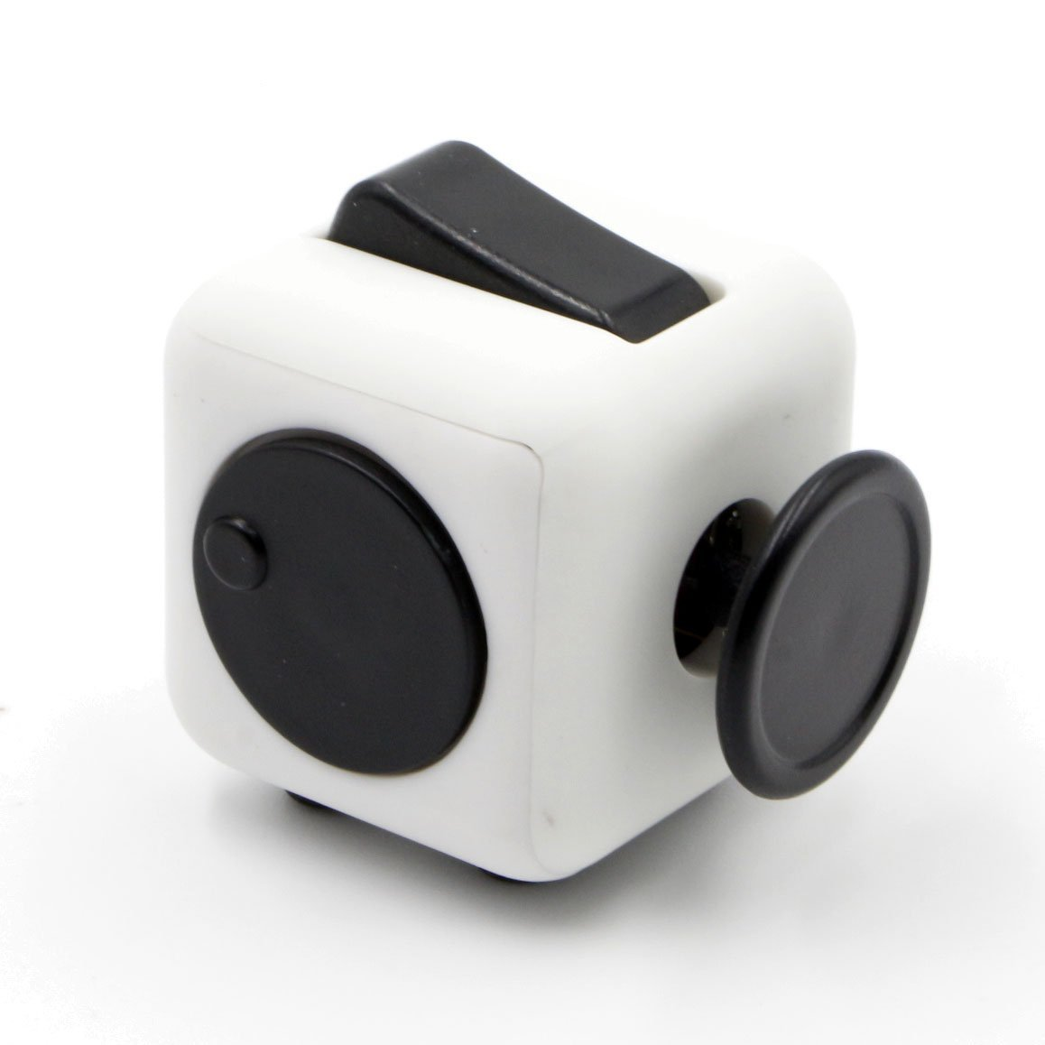 6 Cube Dice Fidget Toys White Black