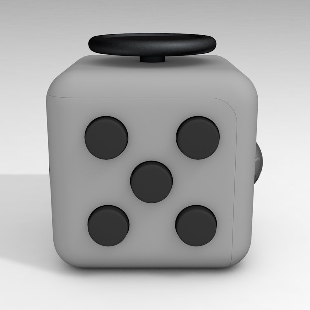 6 Cube Dice Fidget Toys Gray Black