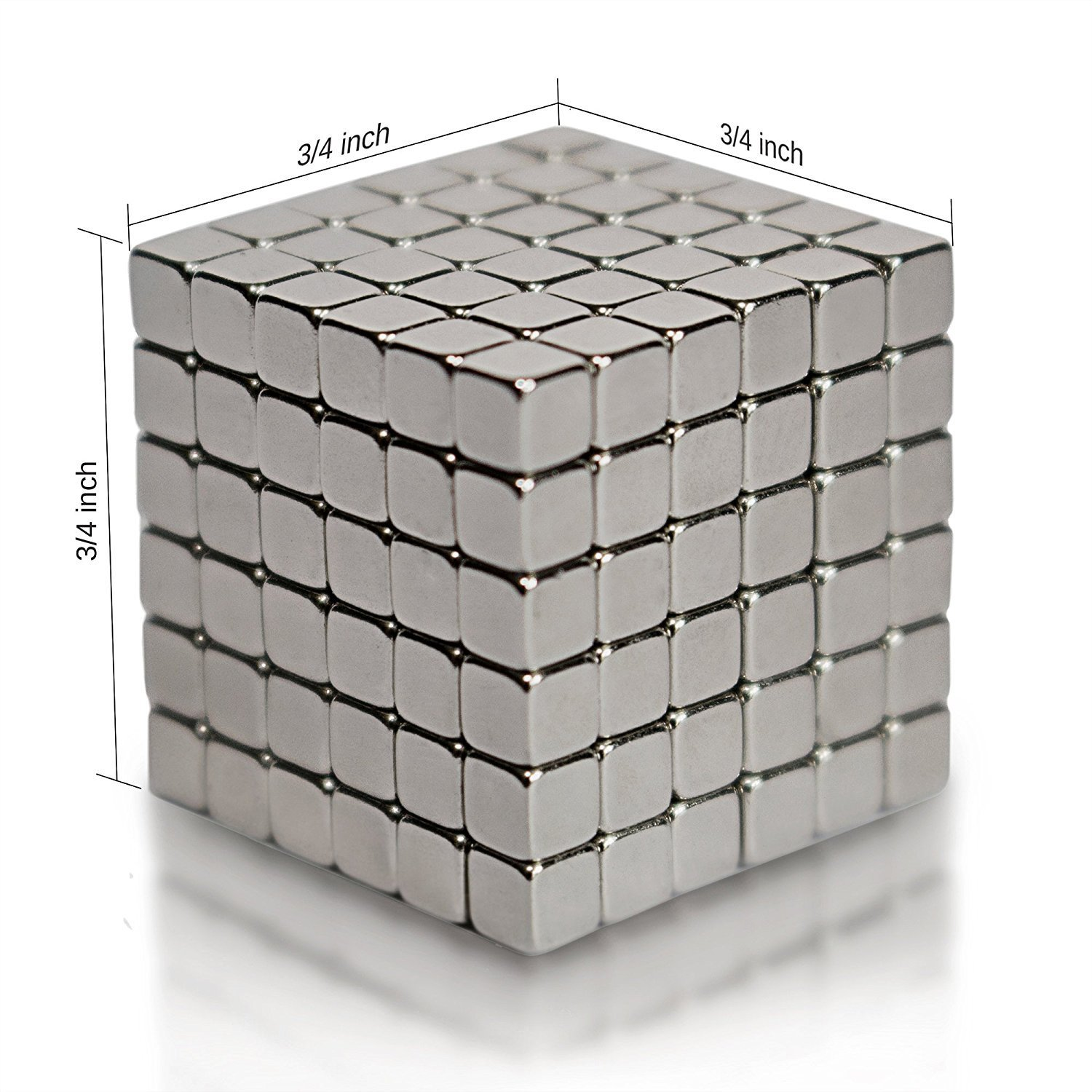 Magnetic Cube Toys,Multi-Use Magnets Cube Education Toys  3x3x3mm (216 Pack)