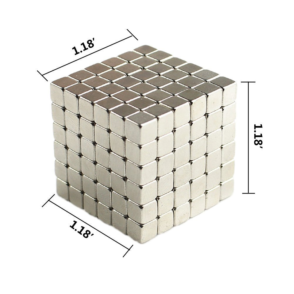 Magnetic Cube Toys,Multi-Use Magnets Cube Education Toys  5x5x5mm (216 Pack)